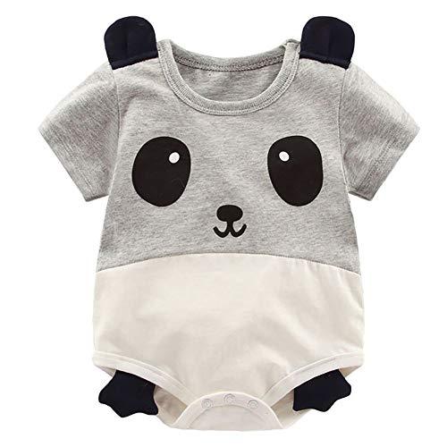 Panda Kostüm Cute Baby - Gyratedream Cute Baby Cartoon Tier Panda Cattle Pig Muster Kurzarm Strampler Body Overall Einteiler Outfits FÜR 0-3 Jahre