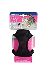 Ancol Soft Cat Harness and Lead Black S