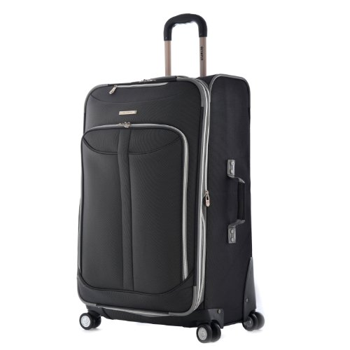 Olympia Tuscany Vertical Rolling Luggage (30 inch, Black)