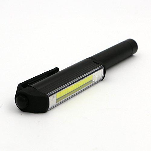 Coquimbo 3 in 1 LED Pen Torcia Multi-Function, COB LED Multi-uso Di Emergenza di Sicurezza Luce Della Torcia Con Base Magnetica Per Esterno, Trekking, Campeggio, Torcia Elettrica di Emergenza, Nero