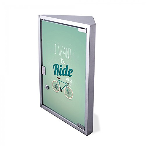 #Edelstahl Medizinschrank Eckschrank abschließbar 30×17,5x45cm Badschrank Hausapotheke Arzneischrank Bad I want to ride my bike#
