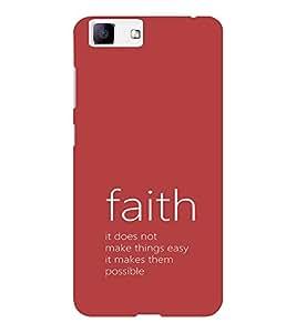 EPICCASE Faith makes it possible Mobile Back Case Cover For Vivo X5 (Designer Case)