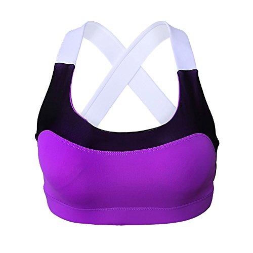 meinice Adorabile Cross Back Active Yoga Reggiseno Purple Large