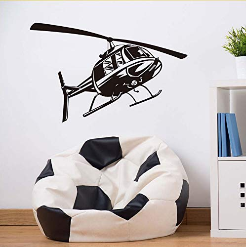 Wuyyii Wall Sticker Cut Cartoon Helicopter Vinyl Wall Decals Stickers For Kids Room Nursery Home Decor Living Decoration Children Decal 59X37Cm