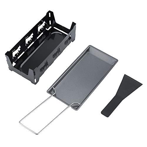 OKBY Raclette - Portable Antihaft-Käse Raclette Rotaster Backblech Herd Set Home Küche Grillen Werkzeug