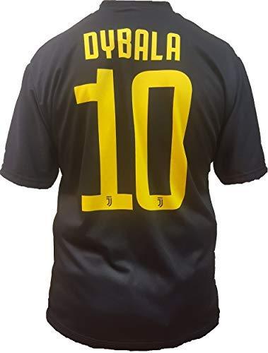 T-Shirt Fußball Paulo Dybala 10 Juventus Drittes Trikot SCHWARZ Saison 2018-2019 Replica OFFIZIELLE mit Lizenz - Alle Größen Kinder und Erwachsene (12 Jahre)