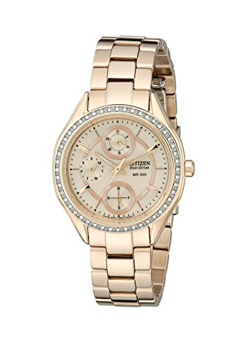 CITIZEN ECO-DRIVE FD1063-57X LADIES STEEL BRACELET STAINLESS STEEL CASE WATCH