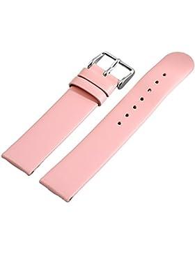 Leder Uhrenarmband Uhrenband Uhrband Ersatzband Armband rosa 815055002018 Stegbreite 18 mm