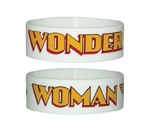 Wonder Woman Armband Logo Weiß Nue offiziell DC Comics rubber (Woman Armbänder Wonder)
