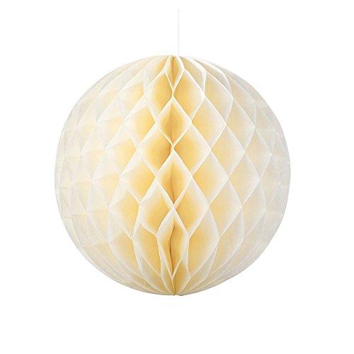 Lot de 3 couleurs 2 tailles pour fête d'anniversaire de mariage lanterne boule papier Nid d'abeille Décoration à suspendre 8\