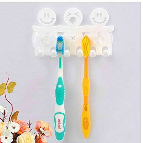Gamloious Haushalt hübsch Smiley Zahnbürste Saughalter Haken Bad setzt Gadgets Cartoon Sucker Rack Badezimmer Gadget-rack