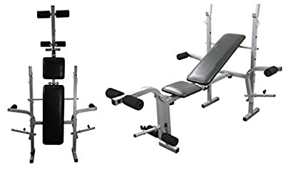 Weight Training Bench Adjustable Multi Gym Folding Fitness Bench With Chest and Leg Exercise by UK Fitness