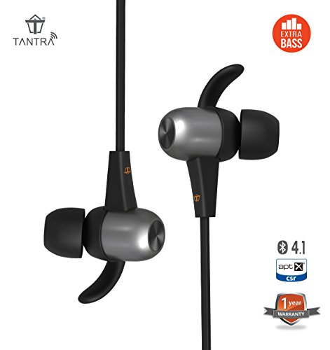 Tantra Power Boat Bluetooth In Ear Sweatproof Noise Cancelling Headphones (with Extra Bass and aptX)