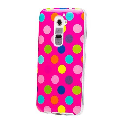 Nokia Lumia 930 | iCues lunares TPU rosa / de color | Señoras de las mujeres de las muchachas de gel de silicona adorno del modelo de piel protectora de protección [protector de pantalla, incluyendo] Cubierta Cubierta Funda Carcasa Bolsa Cover Case