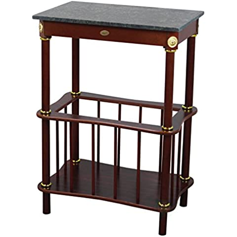 uniquewise marmo Top in legno tavolino con portariviste,