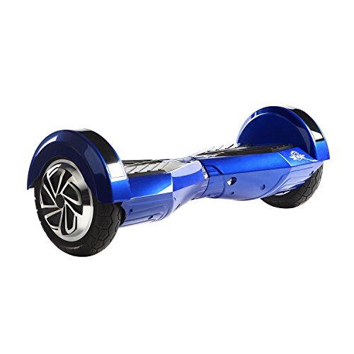 """M MEGAWHEELS, 10""""Scooter eléctrico 2 * 350 W Velocidad máxima del Motor 9 mph con Altavoz Bluetooth, Bolso (Blue-Black)"""