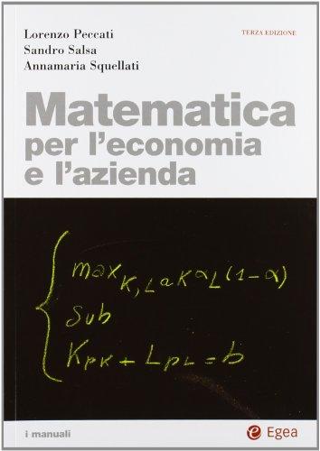 Matematica per l'economia e l'azienda