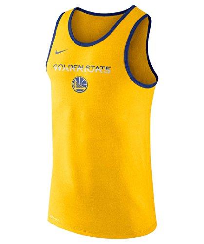 Nike GSW M Nk Dry Tank Es Logo Camiseta Golden State Warriors de Baloncesto, Hombre, Amarillo (Amarillo/Rush Blue/Rush Blue), M