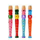 Leisial 1 pcs Baby Kids Flute Whistle Toys Musical Educational Toys Early Children Flute Music Instrument for Kids Toddlers Birthday Gift