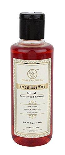 Herbal Face Wash Sandelholz & Honey - 210 ml - von Khadi Organic Natural -
