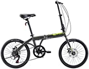 Upten Transformer Folding Bike,14 16 20 Inch Folding Cycles,Foldable Compact Bicycle for Adults and Youth