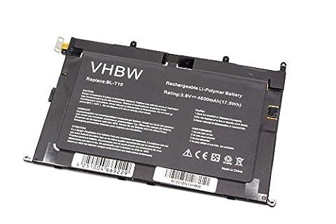 Lg G Pad V500 - vhbw Li-Polymer batterie 4600mAh (3.8V) pour ordinateur,