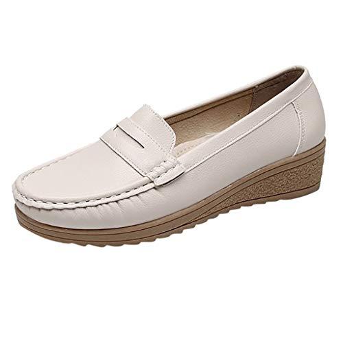 Toasye Fashion Damen Schuhe Casual Erbsen Schuhe Leder Mokassins Slip-On Fahrschuhe