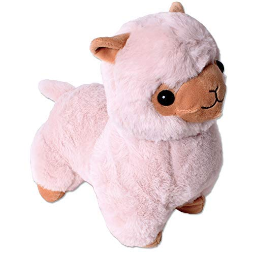 TE-Trend XXL Plüsch Alpaka Alpaca Lama Plüschtier Kuscheltier Deko Stofftier Kinder Baby Geschenk 30 cm Hellbraun (Lama-plüsch-stofftier)