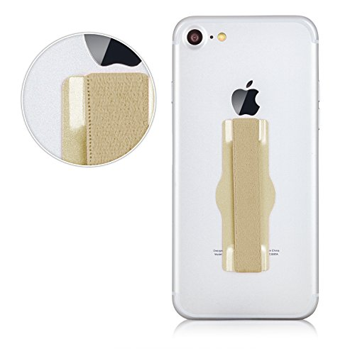 MyGadget Agarre Elástico de Dedo para Móvil Smartphone en Aluminio Finger Grip para Apple iPhone, Samsung Galaxy, Huawei, Xiaomi - Dorado