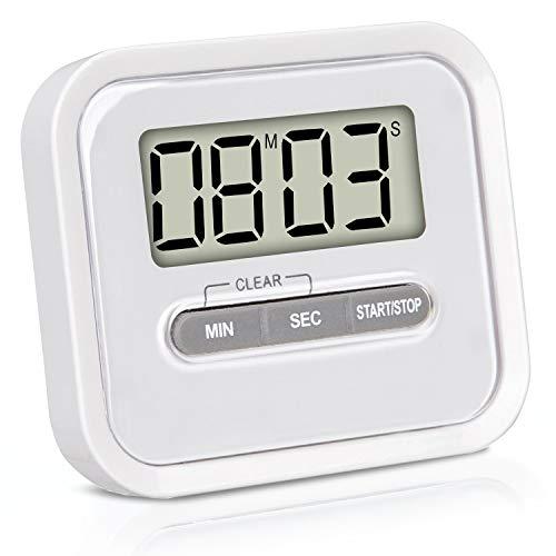 VARA Timer da Cucina Digitale con Supporto Magnetico e cronometro,  Contaminuti Digitale