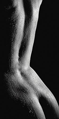Artland Qualitätsbilder I Glasbilder Deko Glas Bilder 50 x 100 cm Liebe Erotik Frau Foto Schwarz Weiß B2YH Nasser Rücken nackte Frau -