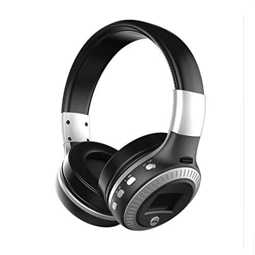 Bluetooth Kopfhörer,Huhu833 Zealot B19 LCD Wireless Over Ear Headset Bluetooth Kopfhörer Stereo Headset Mic FM Radio TF Karte (Silber)