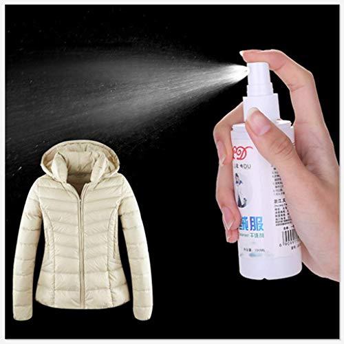 Booming-Cleaner Spray New Convenience Daunenjacke Wash-Free Spray Reinigungsmittel 100ml flüssige Reinigungsmittel für chemikalienfreie Reinigung (Weiß)