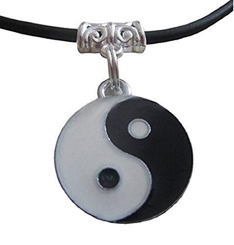 Inception Pro Infinite Collier Symbole Yin Et Yang Tao avec Lanière Noir Lany Idée Cadeau PU