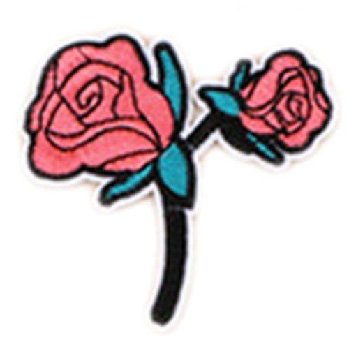 wicemoon Rose Blume Tuch Aufkleber Stickerei Software-Updates Kleine Kleidung Hosen Tuch Aufkleber (Stickerei-software)
