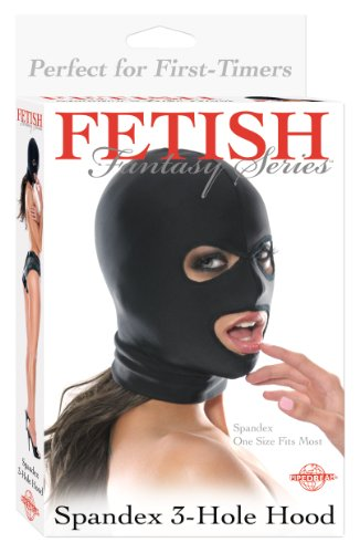 Pipedream Fetish Fantasy Spandex 3 Hole Hood Black