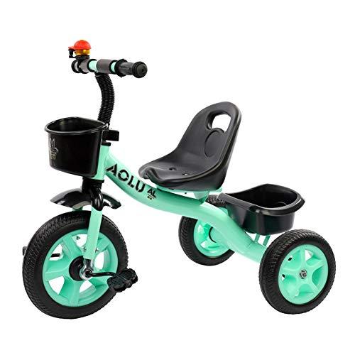 Dreirad Blau/grüne Jungen, Trike für Kinder im Alter von 2/3/4/5 / Jahren, 3 Wheeler Bike Pedal Ride On, Schnellmontage (Farbe : Grün)
