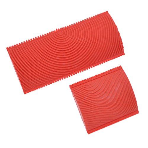 Ynuth 2pz rullo da pittura modello vernice rullo per decorazioni stampa muro pittura strumento di pittura graining legno