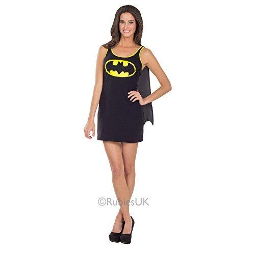 Superheld Schuhe (Womens Batgirl Rubies Neu Kostüm Superheld Erwachsene Party Outfit - Schwarz, S)