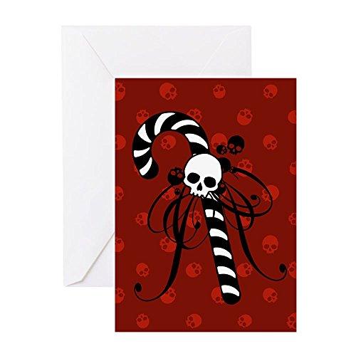 CafePress–skull-candy-cane _ BL. Png–Grußkarte, Note Karte, Geburtstagskarte, innen blanko, glänzend