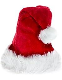 2 Stück Set Weihnachtsmütze Mütze Weihnachten Weich Nikolausmütze Dicker Fellrand aus Plüsch Top Qualität Neue Qualität