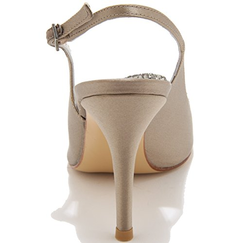 86095 sandalo STUART WEITZMAN SWIRLSLING scarpa donna shoes women Tortora