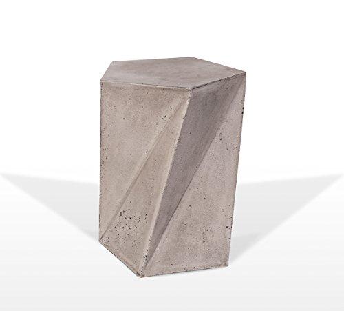 Meubletmoi Tabouret décoratif Design pentagone en béton - mobilier Design Contemporain loft