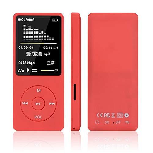 8GB 70 Stunden Wiedergabe Verlustfreie Sound-Musik-Player,MP3 MP4 Player,Tragbare Medien-und Videoplayer,Unterstützung für FM Radio,Voice Recorder,Musik,Video,Ebook,Speicher Erweiterbar bis 64GB