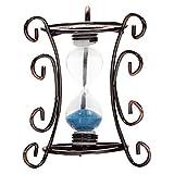 HHBO reloj de arena de metal escultura de resina de la decoraci¨®n de la resina para la decoraci¨®n del hogar del jard¨ªn (color al azar)