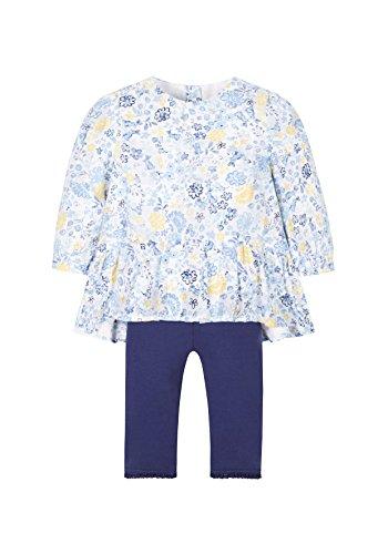 Mothercare Baby-Mädchen Bekleidungsset Floral Blouse Blau, 3-4 Jahre