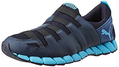 Puma Men's Osu v4 DP Peacoat, Limoges and Cyan Blue Mesh Running Shoes - 6 UK/India (39 EU)