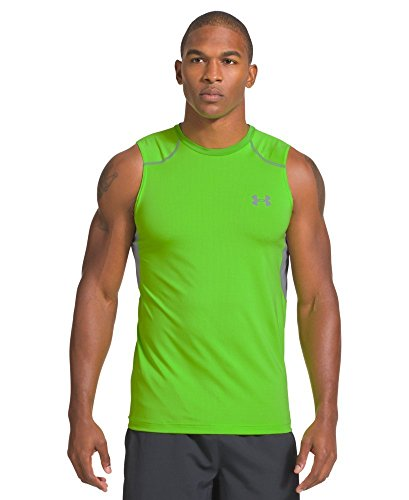 Under Armour Herren Top Armourvent Perf Fitted Tank Gecko Green