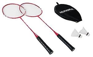 HUDORA Badminton-Set No Limit inkl. Tragetasche - 2 Badminton-Schläger + 2...
