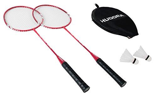 HUDORA Badminton-Set No Limit inkl. Tragetasche - 2 Badminton-Schläger + 2 Federbälle - 76415